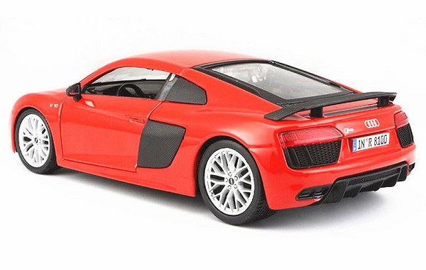 โมเดลรถประกอบ รถเหล็กประกอบ โมเดลรถเหล็กประกอบ, โมเดลรถยนต์ประกอบ Audi R8 V10 red 3