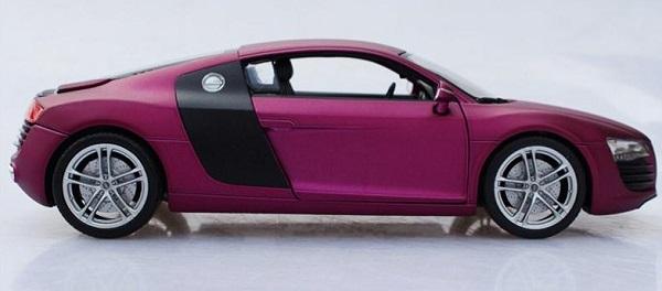 โมเดลรถ โมเดลรถเหล็ก โมเดลรถยนต์ audi r8 purple 5