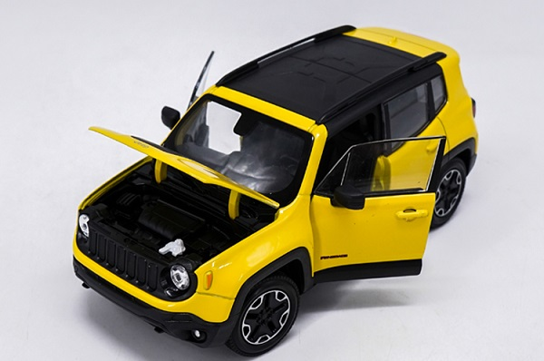 โมเดลรถเหล็ก โมเดลรถยนต์ Jeep Renegade Trailhawk yellow 4