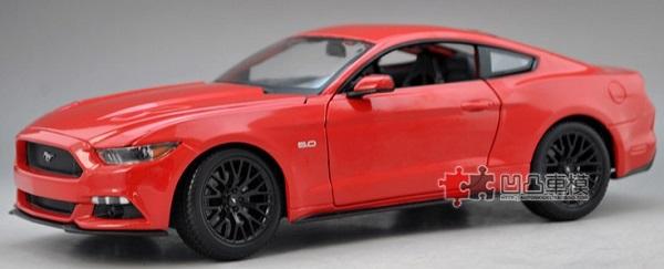 โมเดลรถ โมเดลรถเหล็ก โมเดลรถยนต์ Ford Mustang 2015 แดง 1