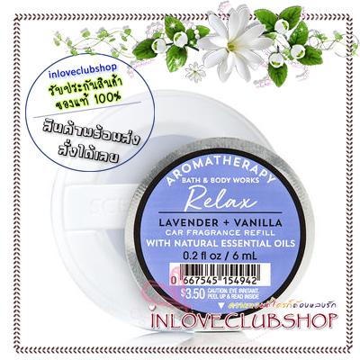 Bath & Body Works - Slatkin & Co / Scentportable Refill 6 ml. (Relax - Lavender & Vanilla)
