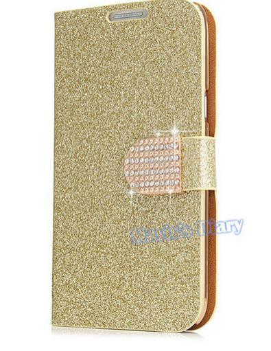 เคสหรู เคสโทรศัพท์ เคส Samsung Galaxy Note 2 N7100 เคสคริสตัล วิ้ง ๆ แบบเปิดปิด ติดมุก สุดหรู สีทอง ชมพู ฟ้า เงิน ม่วง 151616