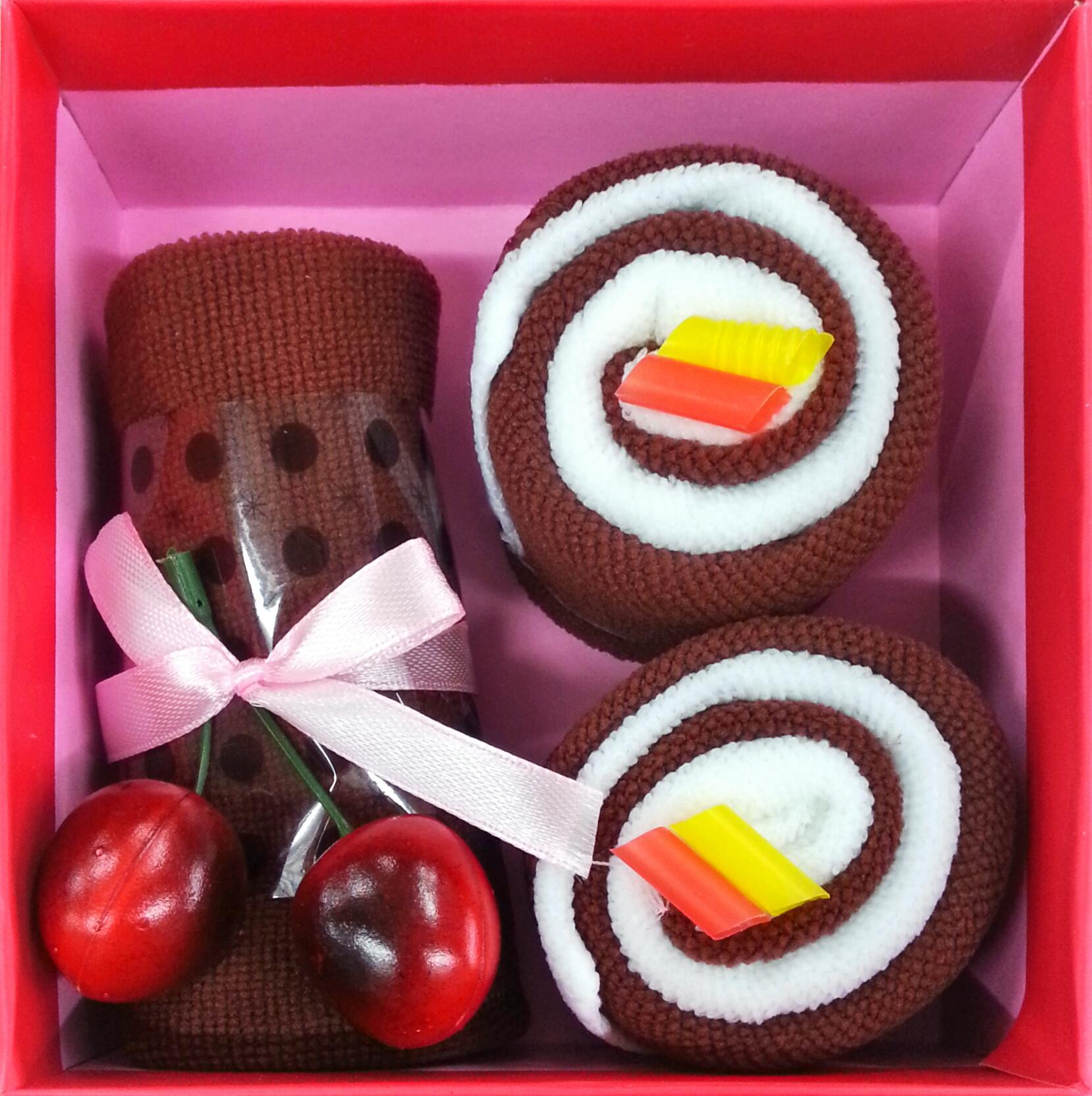 เค้กโรลผ้าขนหนู เซอร์ไพร์สวันพิเศษ (วันเกิด,วันวาเลนไทน์,วันแห่งความรัก)