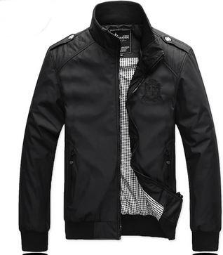 เสื้อ แจ็คเก็ต ผู้ชายแขนยาว เสื้อกันลม ใส่ขี่มอเตอร์ไซค์ ผ้า Nylon,Polyester 2 ชั้น แบบเท่ สีดำ สไตล์ หนุ่มอเมริกัน แจ็คเก็ต แบบเท่ ๆ 580383
