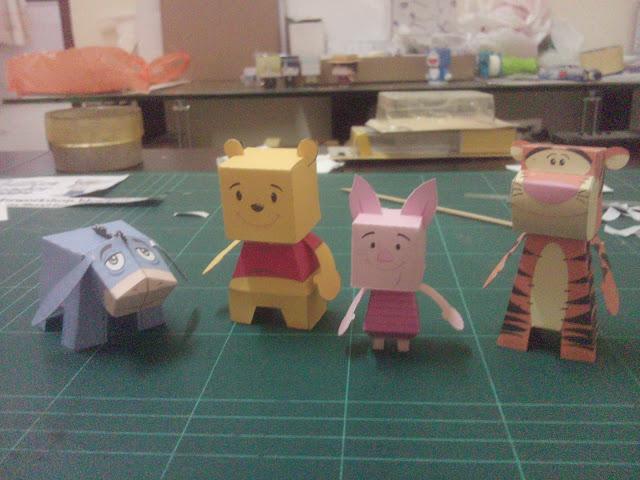 ชุดแก๊งหมีพู และเพื่อนๆ 4 ตัว