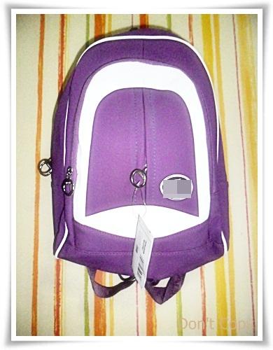 กระเป๋าเป้ Lc สีม่วง สูง 15 นิ้วกว้าง 13 นิ้ว