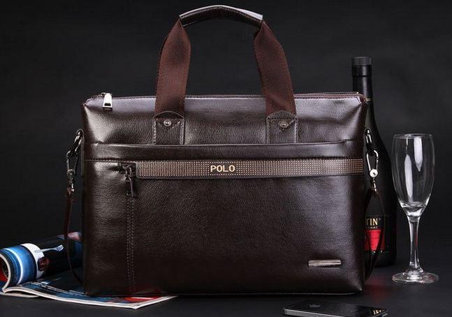 กระเป๋าถือใส่เอกสาร ใส่ note book กระเป๋าถือผู้ชาย กระเป๋าสะพายข้าง Polo หนังสีน้ำตาล ดีไซน์เก๋ ทนทาน กันน้ำได้ ใส่ของได้เยอะ มาดนักธุรกิจ no 8047250