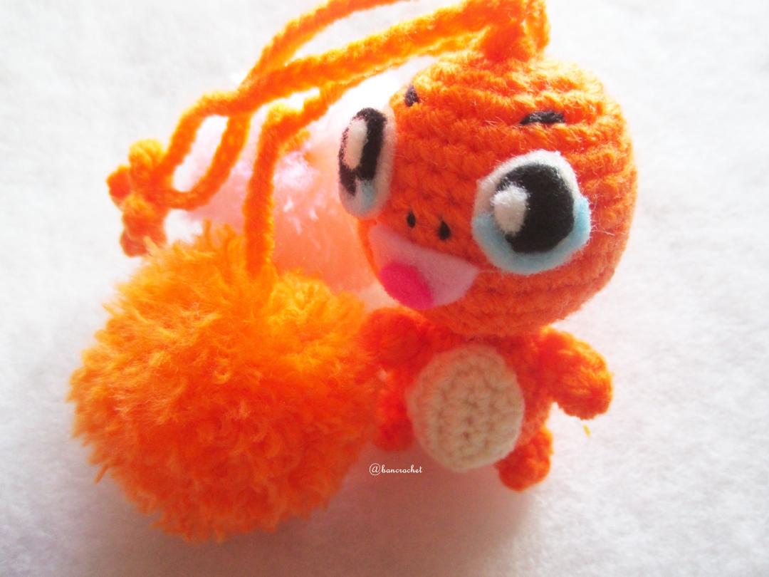 ที่ห้อยกระเป๋า พวงกุญแจตุ๊กตา ฮิโตะคาเงะ dolls pom pom amigurumi crochet keychain