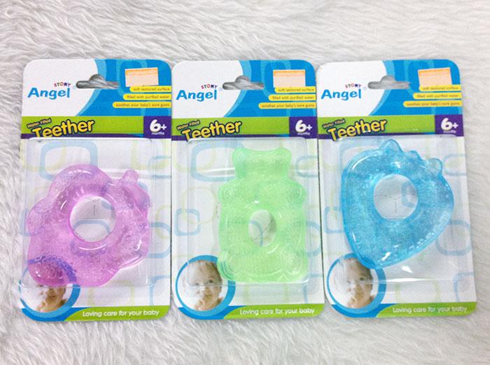 ยางกัดน้ำเด็กอ่อน คละลาย Angel Stony - Water Filled Teether