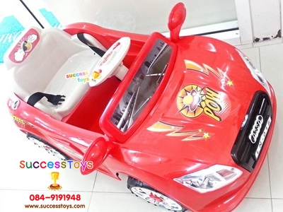 รถแบตเตอรี่เด็กนั่ง รุ่น LN018 ยี่ห้อออดี้ มี 4 สี แดง ขาว เหลือง ชมพู