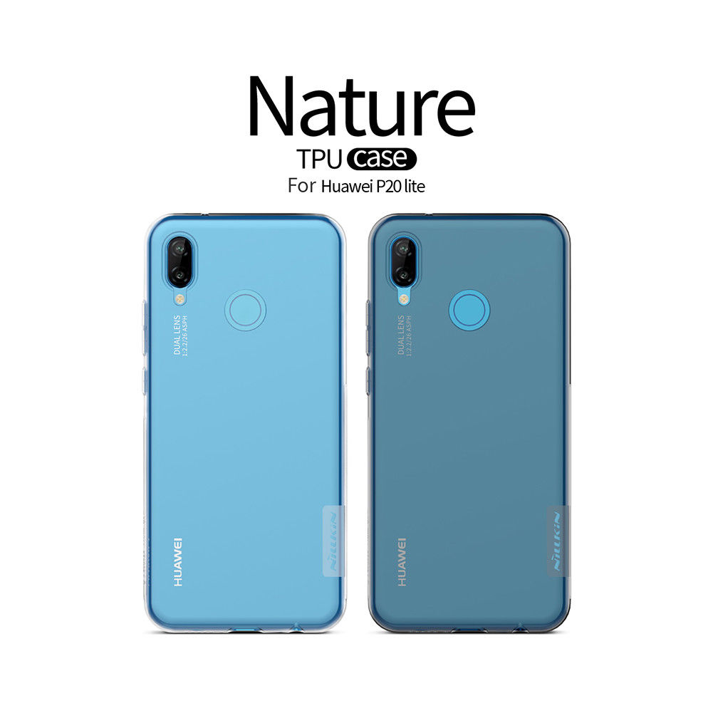 Nillkin Nature Slim Clear TPU Case Cover for Huawei Nova 3e (P20 Lite)