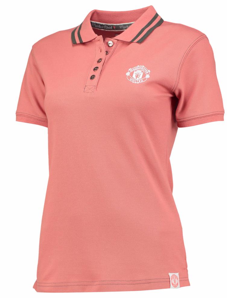 เสื้อโปโลผู้หญิงแมนเชสเตอร์ ยูไนเต็ด Manchester United สีชมพู