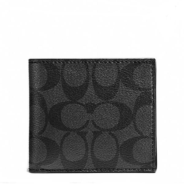 กระเป๋าสตางค์ผู้ชาย COACH COIN CASE IN SIGNATURE WALLET F75006 : BLACK