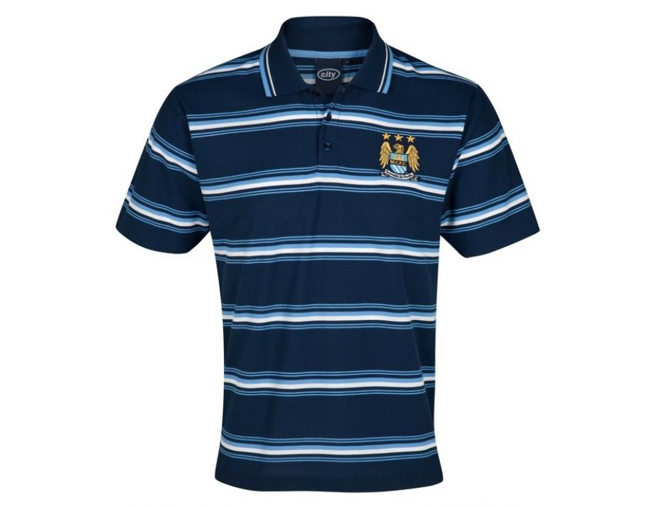 เสื้อโปโล แมนซิตี้ ของแท้ 100% Manchester City Essential Power Stripe Polo Top - Navy จากสโมสรแมนซิตี้ UK สำหรับสวมใส่ เป็นของฝาก ที่ระลึก ของขวัญ แด่คนสำคัญ