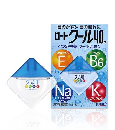 Rohto Cool Vita 40 Alpha Eyedrops ยาหยอดตาสูตรเย็นระดับ 5 ผสมวิตามิน E, B6, Na บำรุงด้วยตาที่อ่อนล้าให้สะอาดชุ่มชื่น