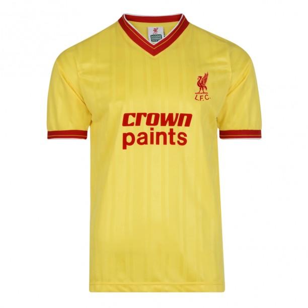 เสื้อเรทโรย้อนยุคลิเวอร์พูล 1986 เสื้อเยือนของแท้ Liverpool FC 1986 Away Retro Football Shirt