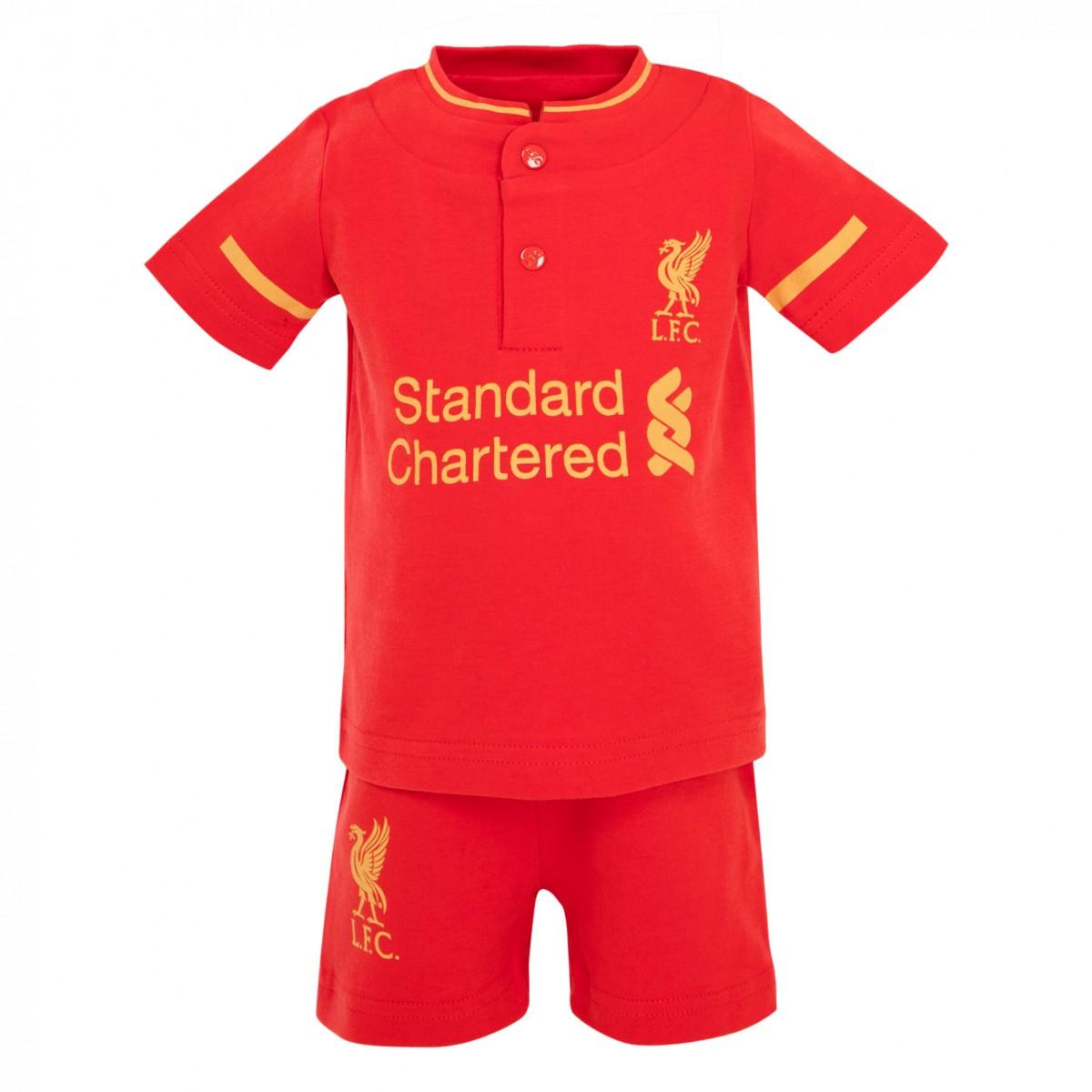 เสื้อลิเวอร์พูลเด็กอ่อนของแท้ Home Kit Tee and Shorts Set 16/17
