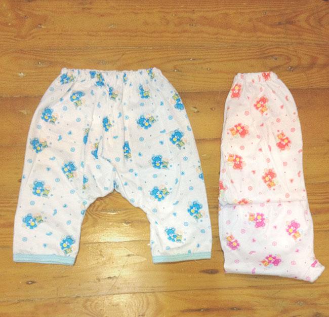กางเกงเด็กอ่อน ขายาว เป้าขยาย คละลาย