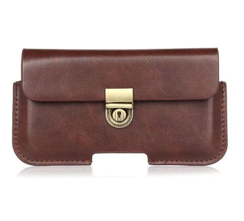 - ฺBusiness Pocket เคส กระเป๋า ซองหนัง คาดเอวสำหรับมือถือ แนวนอน ขนาด 5.1-6.3 นิ้ว