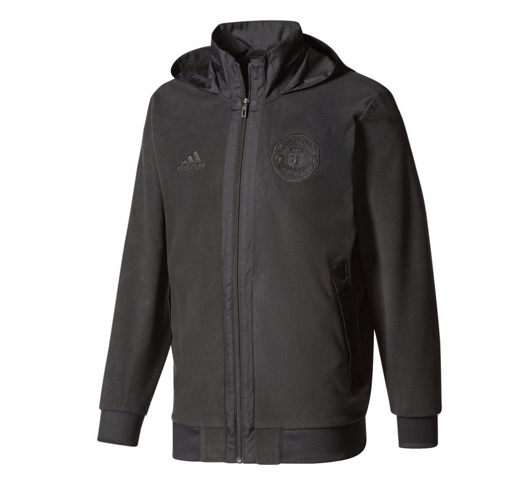 เสื้อแจ็คเก็ตอดิดาสแมนเชสเตอร์ ยูไนเต็ดของแท้ Manchester United Fleece Jacket Black