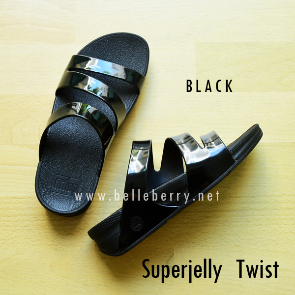 รองเท้า FitFlop SUPERJELLY TWIST : Black : Size US 8 / EU 39