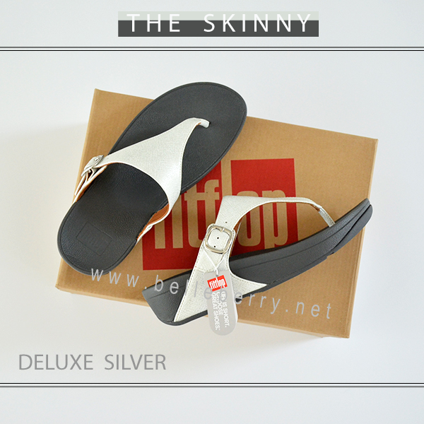FitFlop The Skinny Deluxe : Silver : Size US 9 / EU 41