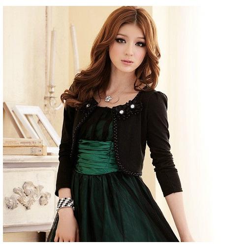 เสื้อคลุมแขนยาว สีดำ/สีขาว (XL,2XL,3XL) JK-2307