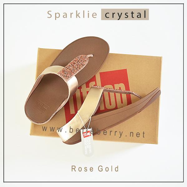 FitFlop : Sparklie Crystal : Rose Glod : Size US 7 / EU 38