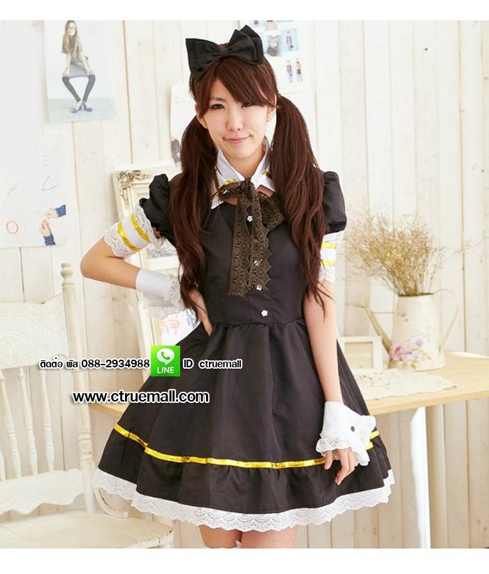 ชุด maid ชุดแม่บ้านญี่ปุ่น ชุดแฟนซี ชุดคอสเพลย์ ชุดแฟนซีอาชีพ ชุดแฟนซีน่ารัก