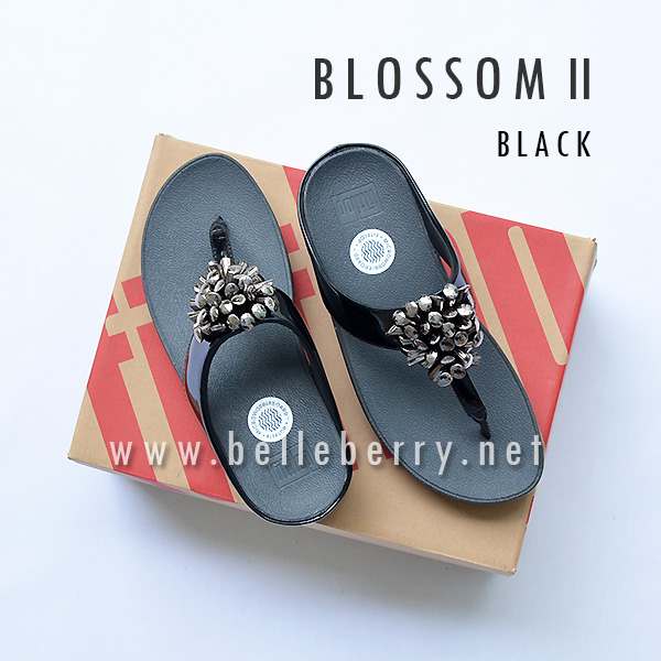 NEW fitflop blossom II black