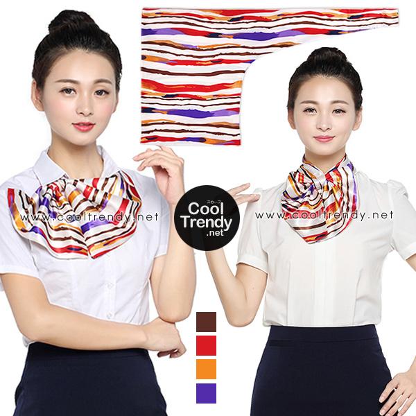 ผ้าพันคอสำเร็จรูป ผ้ายูนิฟอร์ม uniform ผ้าไหมซาติน : L223