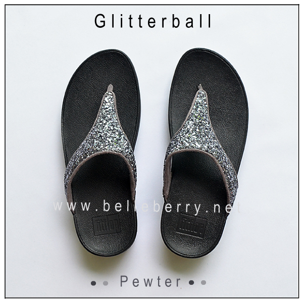 * NEW * FitFlop : GLITTERBALL : Pewter : Size US 5 / EU 36
