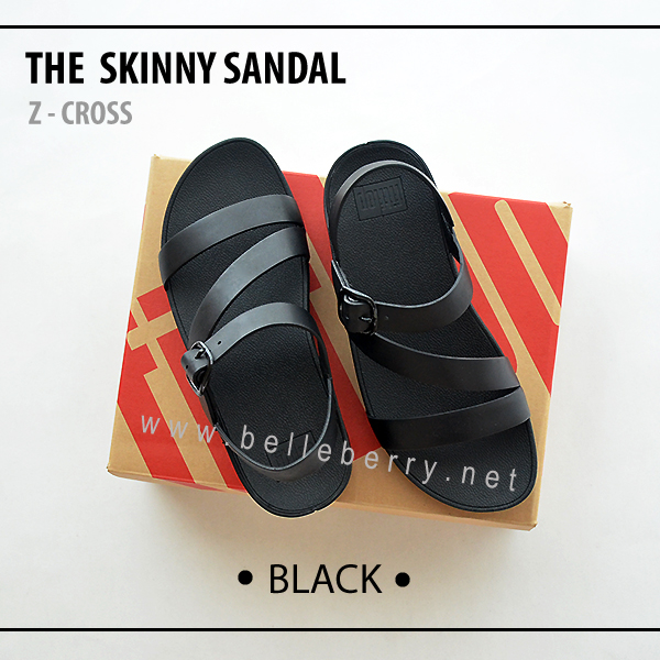 * NEW * FitFlop The Skinny Z-Cross : Black : Size US 5 / EU 36