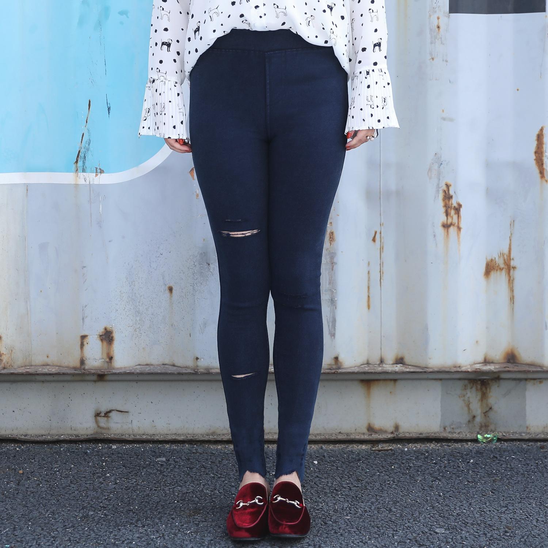 กางเกงขายาวฟอกสีดำ/สีกรมท่า (XL,2XL,3XL,4XL,5XL) ZXK001