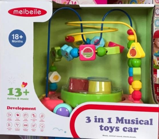 รถขดลวด 3in1 3 in 1 musical toys car meibeile ส่งฟรี