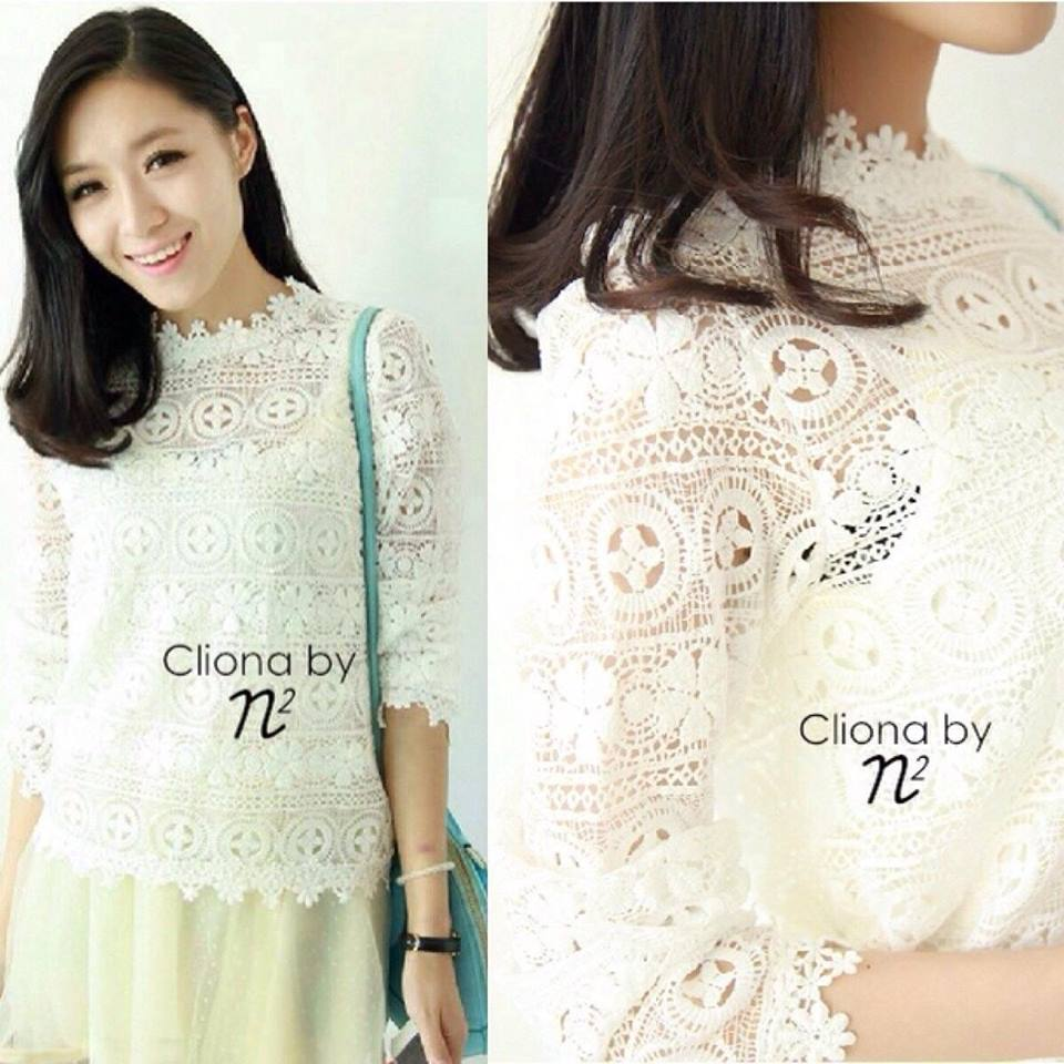 Floral lace See-Through blouse