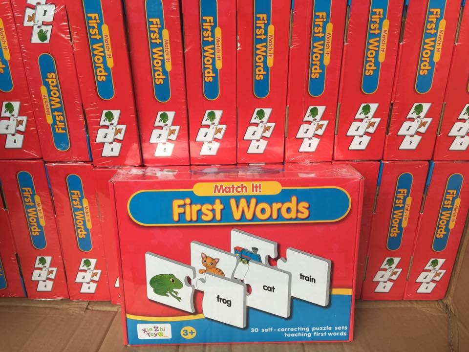 จิ๊กซอว์ ตัวต่อ จับคู่ภาพกับคำศัพท์ การสะกดคำ Match-it First Words