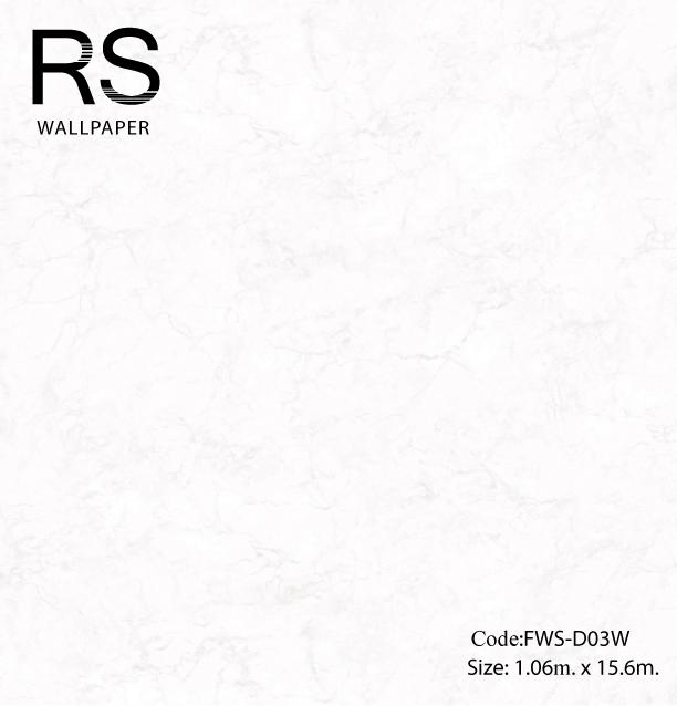 วอลเปเปอร์ลายหินอ่อนสีเทาอ่อนพื้นขาว FWS-D03W