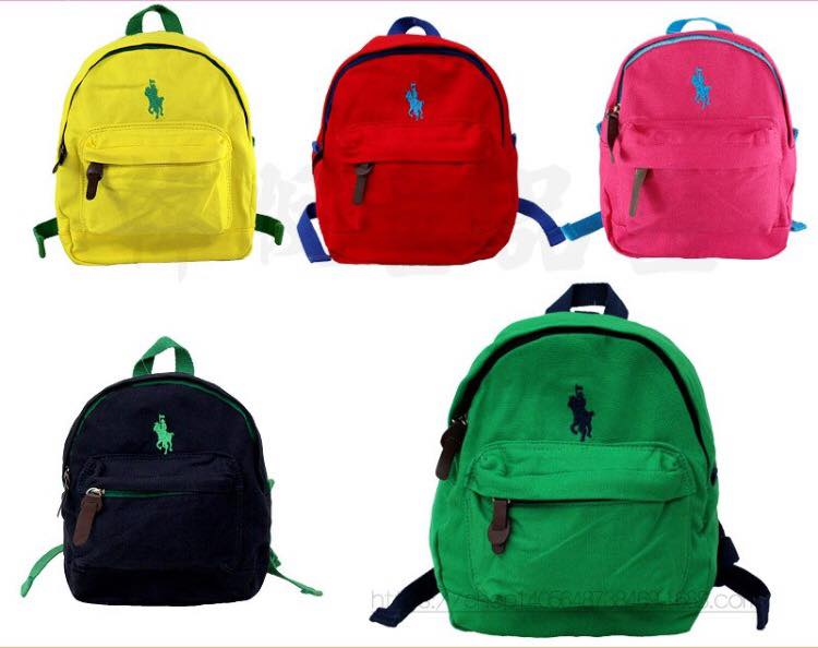 กระเป๋าเป้สะพายหลังโปโล มีสายจูง พร้อมส่ง *** แดง , กรม , ชมพู , เขียว , เหลือง