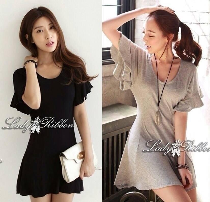 Lady Ribbon's Made Downtown Cool and Casual Chic Jersey Mini Dress