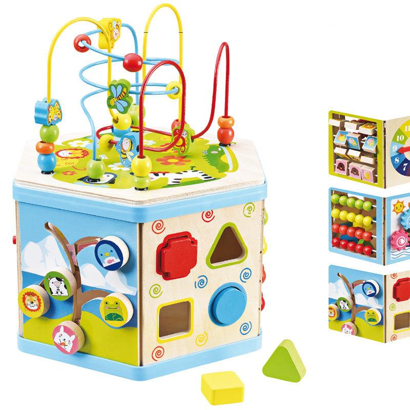 8 In 1 Activities Wooden box ของเล่นไม้ 8 กิจกรรม ในกล่องเดียว คุ้มสุดๆ