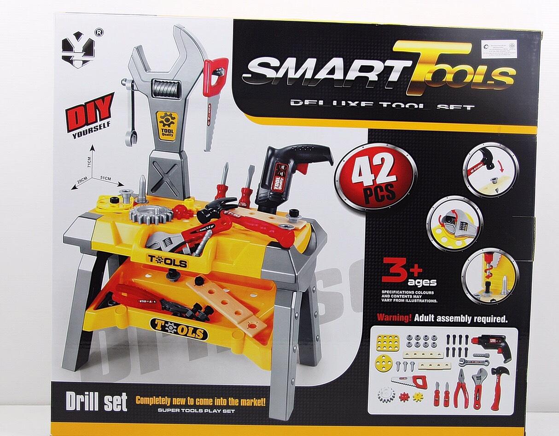 โต๊ะเครื่องมือช่่าง Superior Tools อุปกรณ์ 42 ชิ้น สว่านหมุนได้ ส่งฟรี
