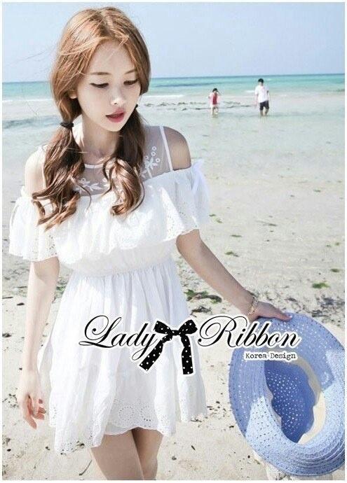 Lady Lara Sweet Casual Cotton Lace Mini Dress