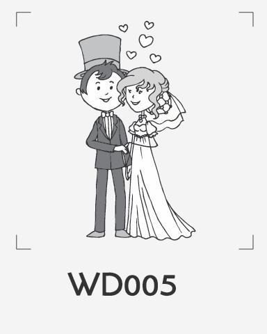 ตราปั๊มงานแต่ง WD005
