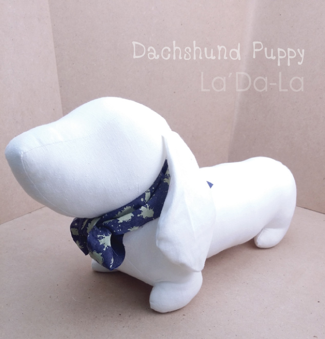 Dachshund Softy Toy - WHITE