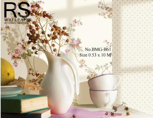 วอลเปเปอร์ลายดอกไม้ BMG-B61