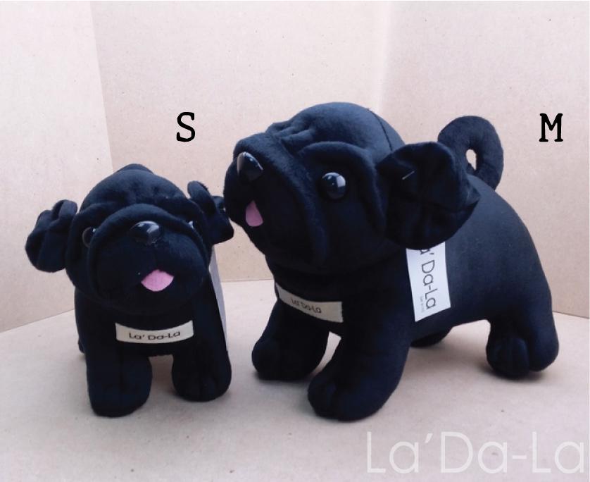 Pug Softy Toy - M BLACK