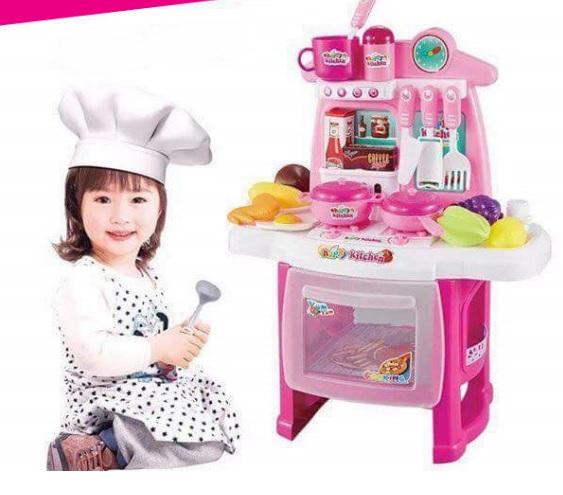 ชุดครัวน่ารัก kitchen cook มีเสียงมีไฟ มีผลไม้ ส่งฟรีพัสดุไปรษณีย์
