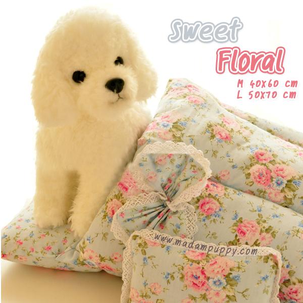 ที่นอนสุนัขสีหวาน Sweet Floral พร้อมส่ง