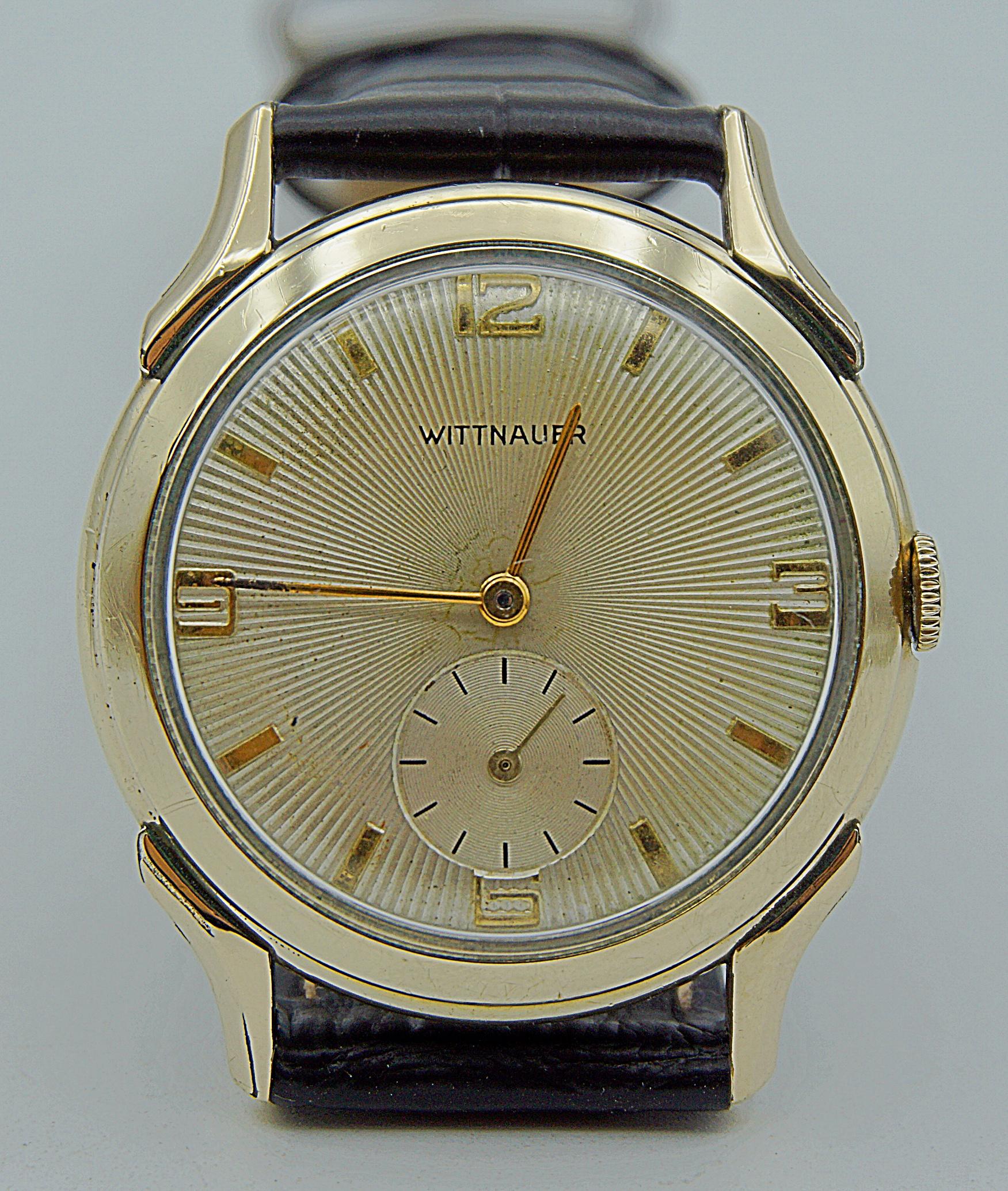นาฬิกาเก่า WITTNAUER BY LONGINES ไขลานสองเข็มครึ่ง
